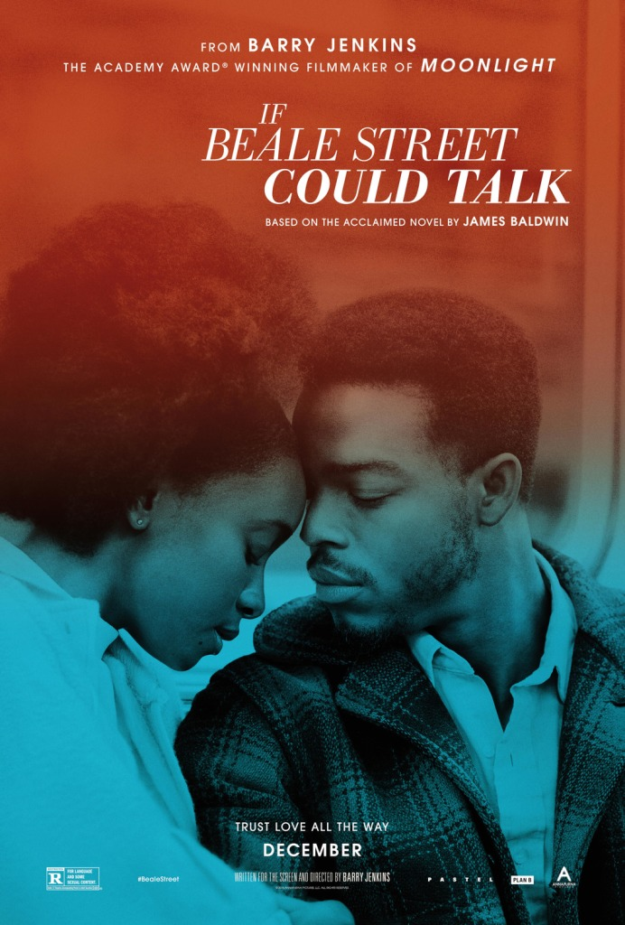 Poster for If Beale Street Could Talk, featuring Stephan James and KiKi Layne