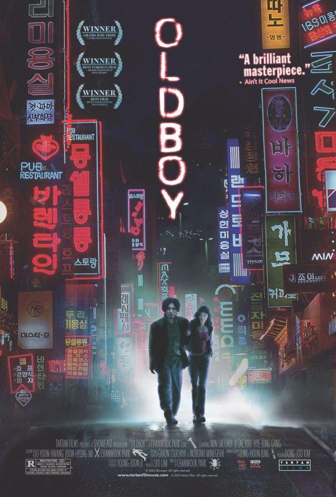 Oldboy poster featuring Min-sik Choi and Hye-jeong Kang