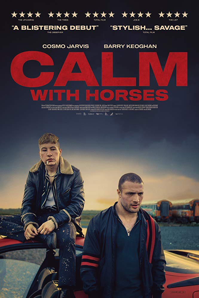 Poster for Calm With Horses, featuring Cosmo Jarvis and Barry Keoghan